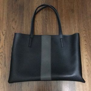 Vince Camuto Vegan Black and Grey leather tote